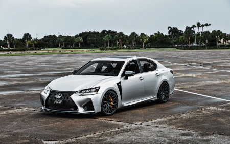 2018 Lexus GS-F - cars, lexus, vehicles, Lexus GS-F, white cars