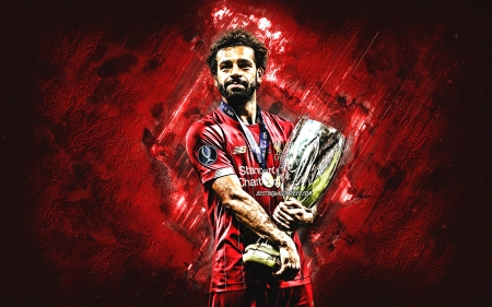 Mohamed Salah - egyptian, mohamed salah, mo salah, red, soccer, trophy, lfc, sport, ynwa, super cup, salah, liverpool, football, cup