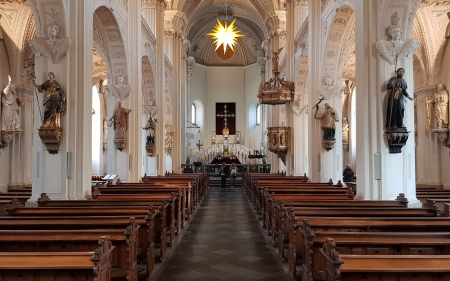 Church in Duesseldorf, Germany - inside, interior, germany, church