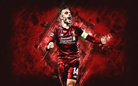 Jordan Henderson - liverpool, football, lfc, jordan henderson, henderson, soccer, red, english footballer, captain, sport, ynwa