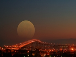 Moon Over the Coronado Bridge