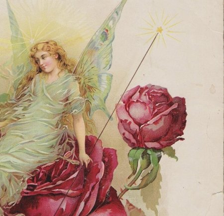 Fairy - red, art, fantasy, girl, rose, flower, vintage, fairy, wings