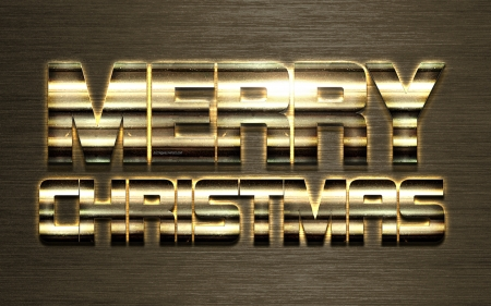 Merry Christmas - merry christmas, christmas, greeting, new year, golden metal letters, art, holidays, creative letters, background greeting card, golden metal current, concepts