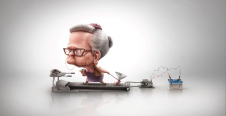 :) - fantasy, add, man, funny, commercial, old, woman, advertise, dog
