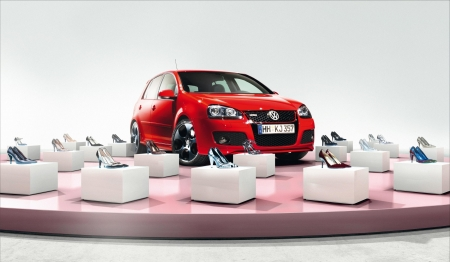 :) - red, add, car, commercial, white, pink, advertise, shoes