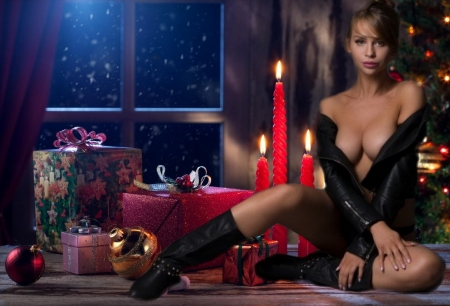 Advent - advent, candle, sexy, women
