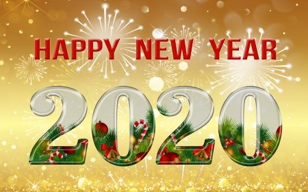 Happy New Year! - new year, holiday, happy, 2020, firework