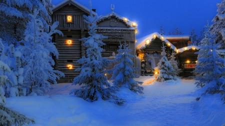 Cozy Cabin Winter Nature Background Wallpapers On Desktop Nexus Image 2532313