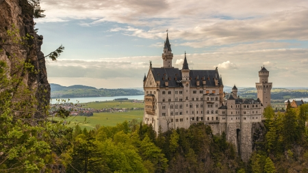 Neuschwanstein Castle, Germany - forest, medieval, germany, castle
