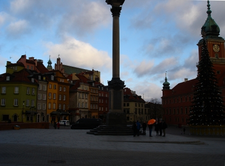 The Royal Square, Warsaw, Poland - architecture, Poland, seasons, Warsaw