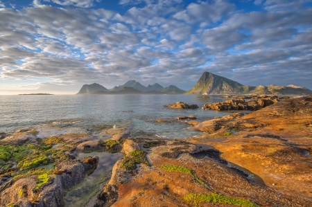 Wonderful day - photography, ocean, nature, clouds, norway, sea, rocks, creation, sky, beach