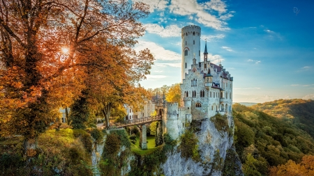 Castle - fall, beautiful, castle, germany