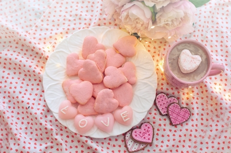 ♥ - cookies, abstract, pink, love