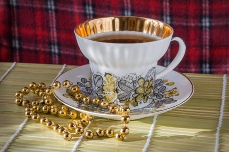 tea time - pearls, tea, mood, still life, photography, cup