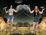 Giantesses Versus Aliens