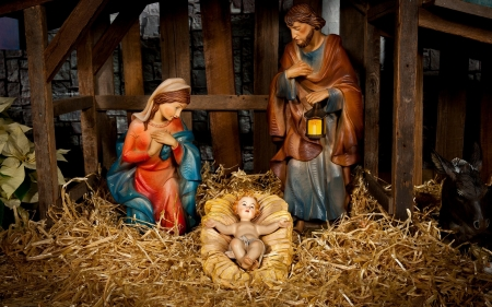 Nativity Scene - Mary, manger, scene, Joseph, Nativity, Jesus