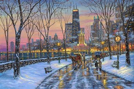 Robert Finale Chicago Skyline Other Abstract Background Wallpapers On Desktop Nexus Image 2534962