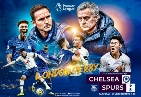 CHELSEA - TOTTENHAM HOTSPUR - football, premier league, TOTTENHAM HOTSPUR, CHELSEA, CHELSEA wallpaper, TOTTENHAM HOTSPUR wallpaper, spurs, lampard, wallpaper, london, jose mourinho