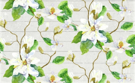 Texture - pattern, magnolia, green, flower, paper, spring, white