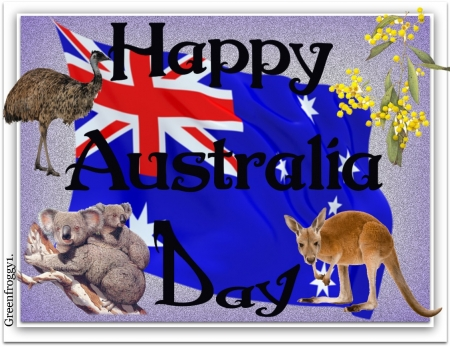 HAPPY AUSTRALIA DAY - DAY, COMMENT, AUSTRALIA, CARD