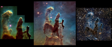 Pillars of Creation - M16, eagle nebula, nebula, pillars of creation, Hubble
