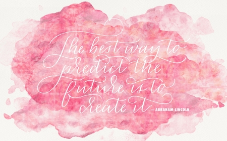 :) - pink, white, card, abraham lincoln, quote, word