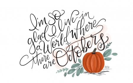 :) - texture, pumpkin, quote, halloween, october, word, card