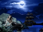 Mermaid in The Moonlight