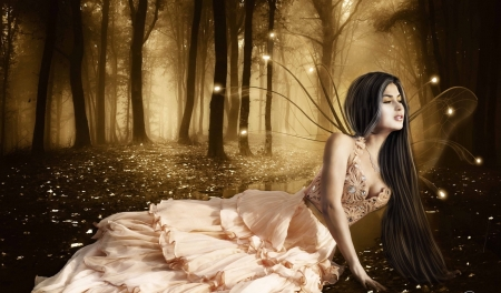 Forest Fairy  - forest, Fairy, dreamy, enchanting, fantasy, ethereal, browns, beautiful, magical