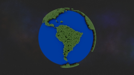 serious trees infestation south america - world, america, south, trees, green