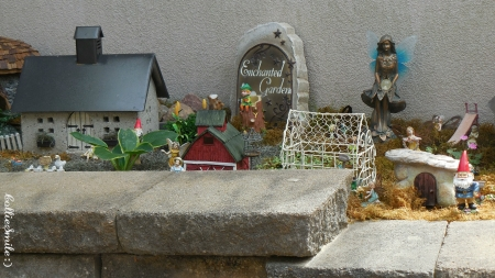 Gnomes in the Garden - gnomes, gnome, garden, house