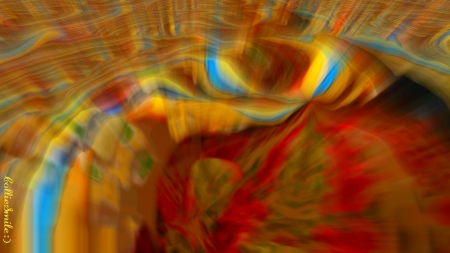 Candied Colors - swirls, crimson, abstract, red, multicolored, homemades