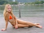 Bikini Model on the Dock