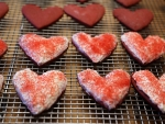Valentine Day Red Velvet Sugar Cookies