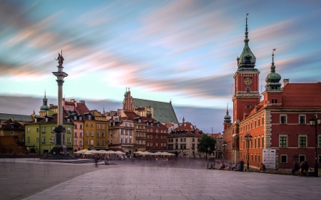 Warsaw, Poland - Poland, monument, palace, Warsaw, square