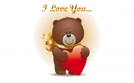 Happy Valentines! - cute, bear, love, heart, vector