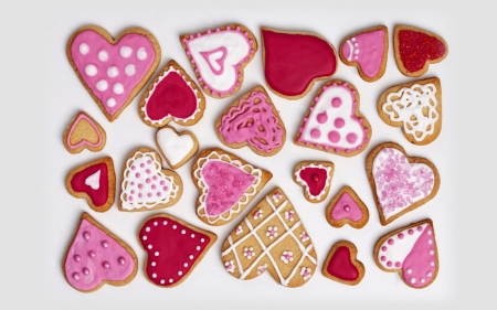 Happy Valentines! - cookies, sweets, pink, hearts