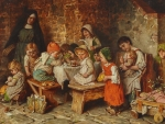 Children Eating in a Monastery
