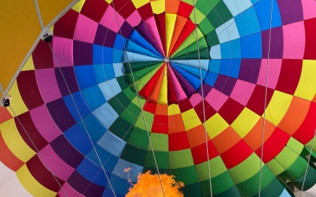 Inside Hot Air Balloon - colors, colorful, inside, hot air balloon, flame