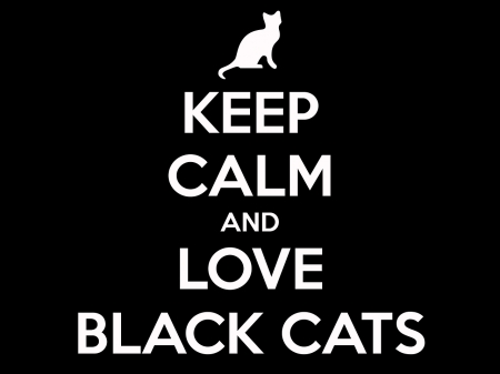 :) - keep calm, black, cat, pisici, white, black cats, card, word