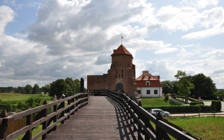 Liw Castle, Poland - Poland, bridge, castle, wooden, history