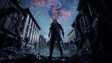 Here we go again - Devil May Cry, Nero, Video Game, Son Of Vergil, Anime, Demon, The Red Queen, Devil Trigger, Human, Devil May Cry 5, 1 Quarter Demon, 3 Quarters Human, Cybernetic Arm