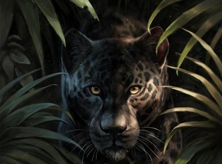 Black Jaguar Fantasy Abstract Background Wallpapers On Desktop Nexus Image 2541977