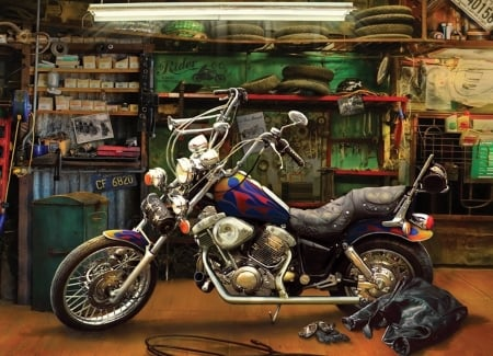 Sweet Ride - photo, hdr, bike, motorcycle, jacket