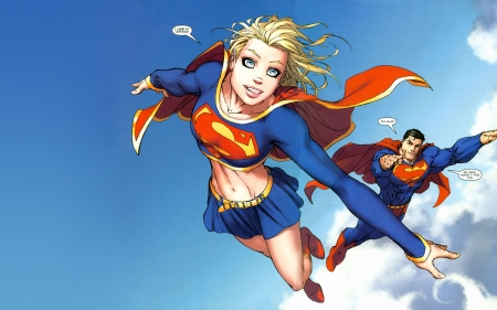 Supergirl Superman - superman, michael turner, supergirl, comics, superheroes, illustration, dc comics