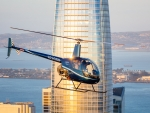 Helicopter and Skyscraper