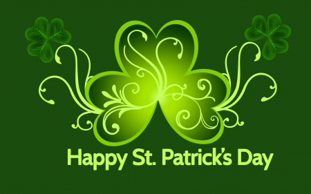 Happy St. Patrick's day! - holidays, St Patricks day, clover, wallpaper, lucky, abstract, digital art, luck