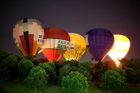 Hot-air-balloons - colorful, balloon, hot air balloon, light