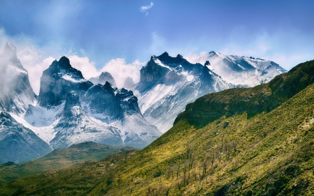 Mountains in Chile - South America, nature, Chile, mountains, landscape