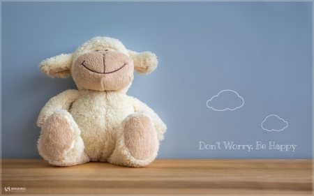 :) - sheep, quote, oita, toy, stuff, white, word, blue, oaie